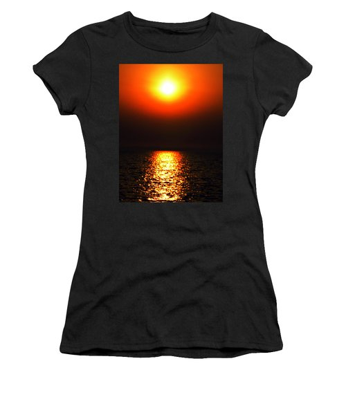 Women's T-Shirt (Junior Cut) featuring the photograph sunset Santorini Greece by Colette V Hera  Guggenheim