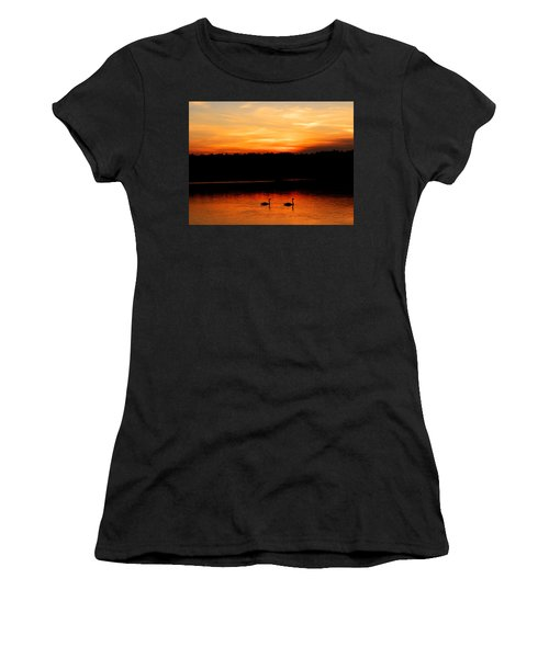Swans In The Sunset Women's T-Shirt