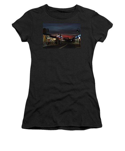 Women's T-Shirt (Junior Cut) featuring the photograph Tarpon Springs After Sundown by Ed Gleichman