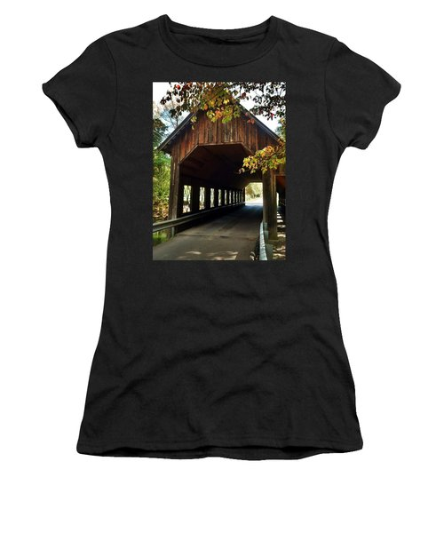 Tennesse Covered Bridge Women's T-Shirt (Junior Cut) by Janice Spivey