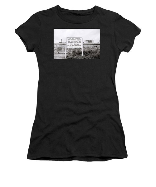 Berlin Wall American Sector Women's T-Shirt (Athletic Fit)