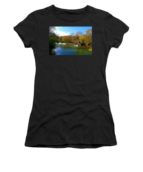 Women's T-Shirt (Junior Cut) featuring the photograph The Grist Big River by Peggy Franz