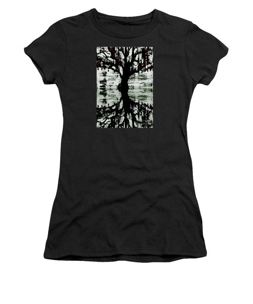 The Tree The Root Women's T-Shirt (Junior Cut) by Amy Sorrell