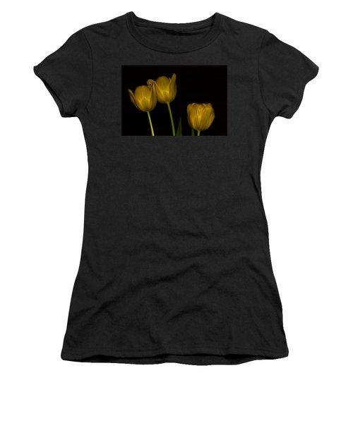 Women's T-Shirt (Junior Cut) featuring the photograph Three Tulips by Ed Gleichman