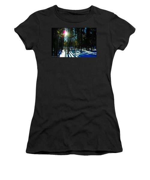 Women's T-Shirt (Junior Cut) featuring the photograph Through The Trees by Shannon Harrington