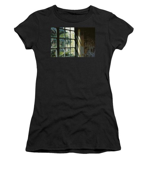 Women's T-Shirt (Junior Cut) featuring the photograph View Through The Window by Marilyn Wilson