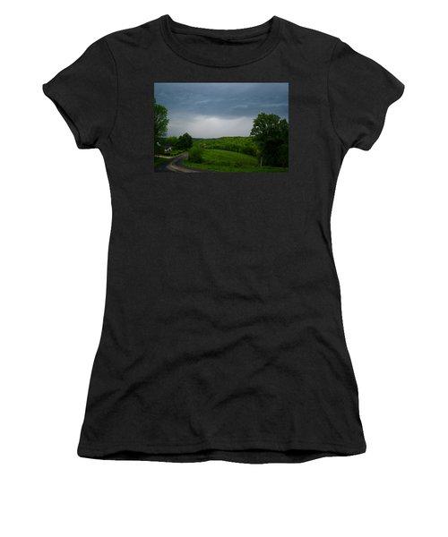 Women's T-Shirt (Junior Cut) featuring the photograph Thunderstorm by Kathryn Meyer