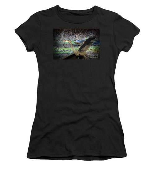 Women's T-Shirt (Junior Cut) featuring the photograph Time To Leave by Dan Friend