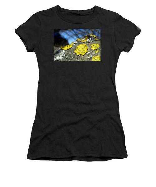 Women's T-Shirt (Athletic Fit) featuring the photograph Tree Lichen by Ausra Huntington nee Paulauskaite