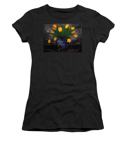 Tulips In Blue Women's T-Shirt