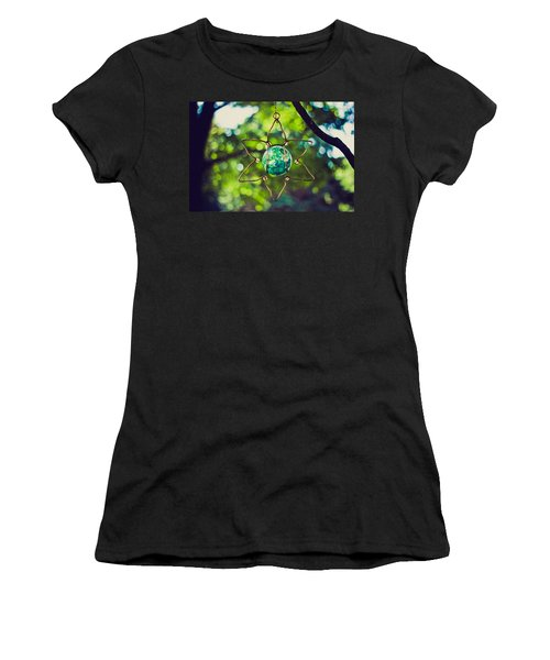Women's T-Shirt (Junior Cut) featuring the photograph Turquoise Light by Sara Frank