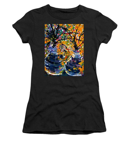 Twin Flowers Women's T-Shirt (Athletic Fit)