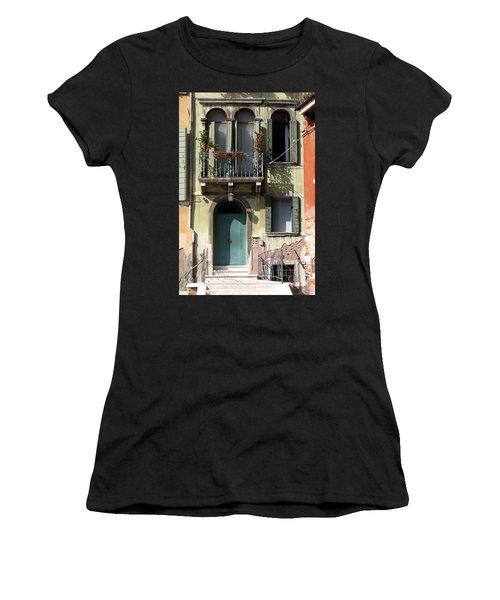 Venetian Doorway Women's T-Shirt (Junior Cut) by Carla Parris