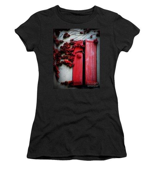 Vines On Red Shutters Women's T-Shirt