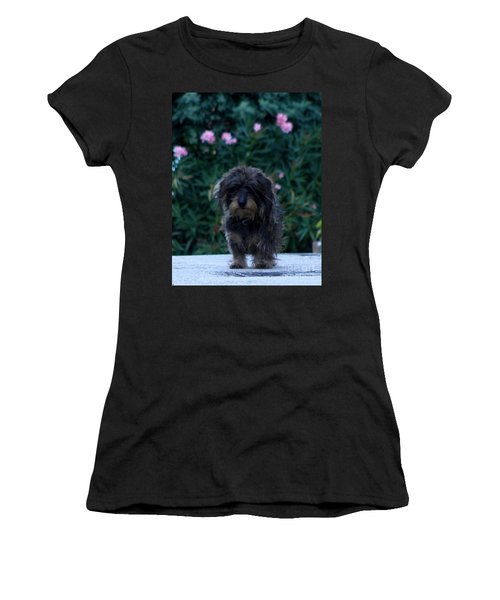 Women's T-Shirt (Junior Cut) featuring the photograph Waiting by Lainie Wrightson