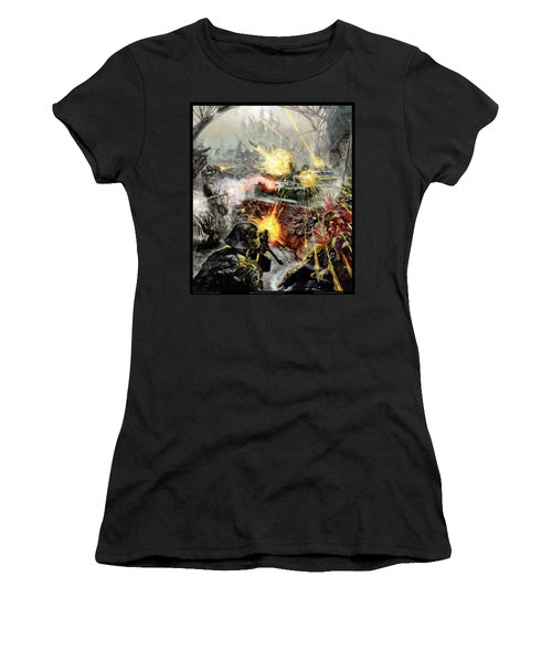 Wars Are Designed To Destroy  Women's T-Shirt (Junior Cut) by Tony Koehl