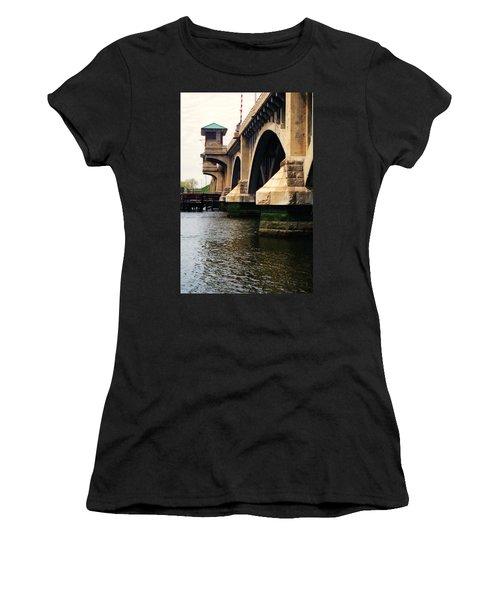 Washington Bridge Women's T-Shirt (Junior Cut) by John Scates