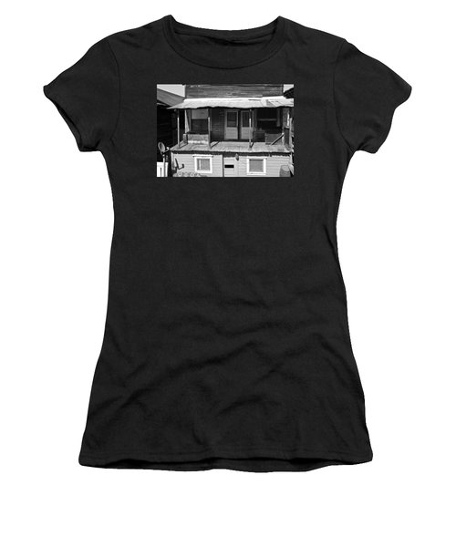 Weathered Home With Satellite Dish Women's T-Shirt