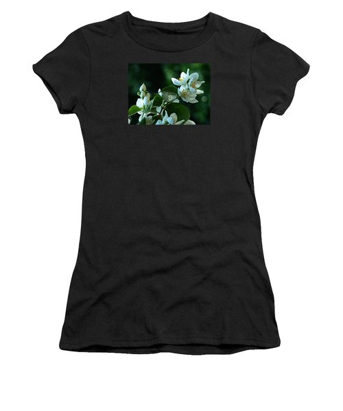 Women's T-Shirt (Junior Cut) featuring the photograph White Buds And Blossoms by Steve Taylor
