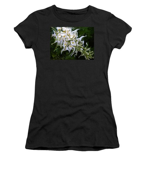 White Flowers 2 Women's T-Shirt (Athletic Fit)