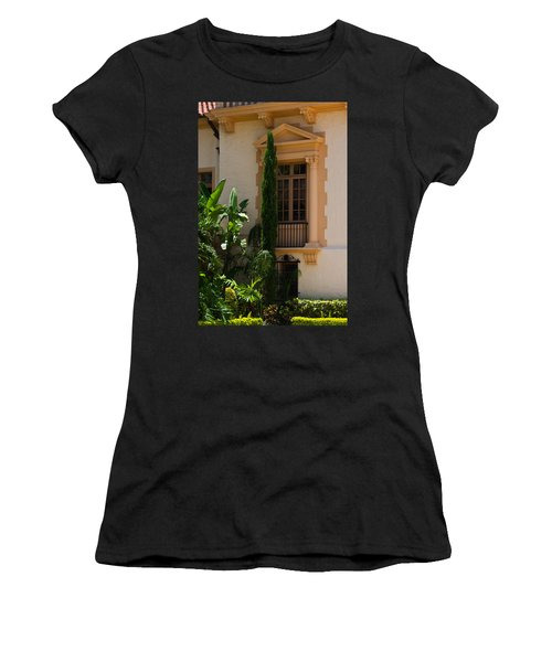 Women's T-Shirt (Junior Cut) featuring the photograph Window At The Biltmore by Ed Gleichman