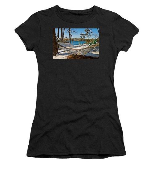 Women's T-Shirt (Junior Cut) featuring the photograph Winter Hammock by Susan Leggett