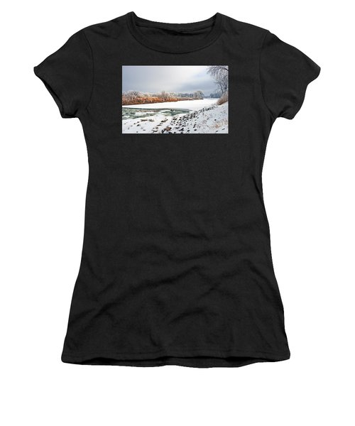 Winter Red River 2012 Women's T-Shirt (Athletic Fit)