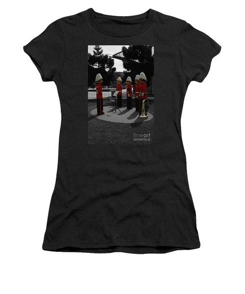 Women's T-Shirt (Junior Cut) featuring the photograph Wooden Bandsmen by Blair Stuart