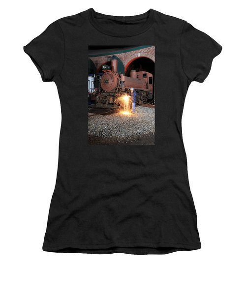 Working On The Railroad Women's T-Shirt (Athletic Fit)