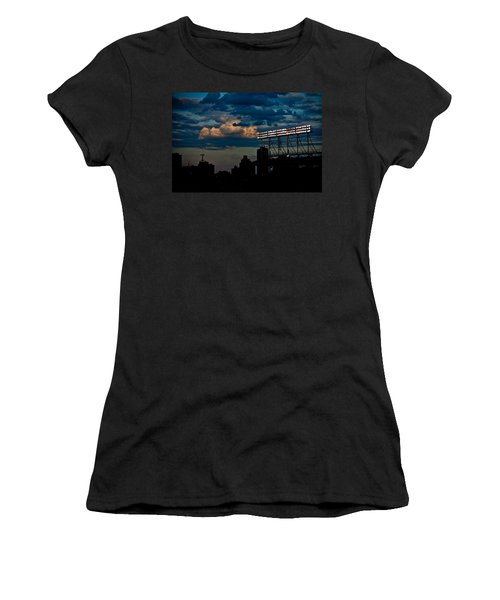 Wrigley Field Light Stand Women's T-Shirt (Athletic Fit)