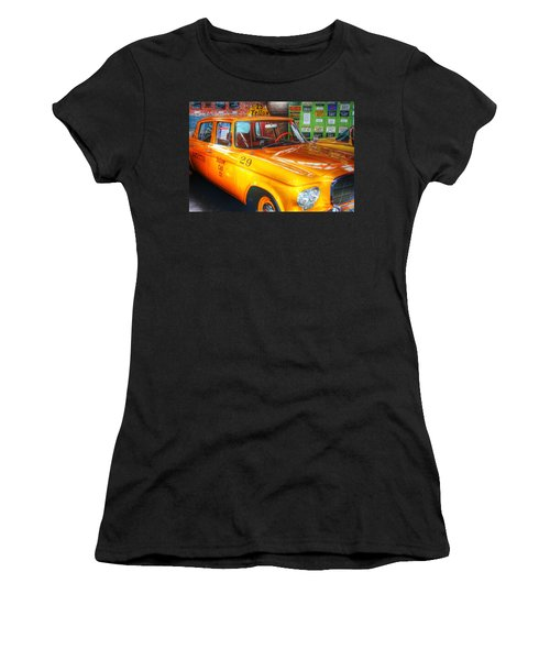 Yellow Cab No.29 Women's T-Shirt (Junior Cut) by Dan Stone
