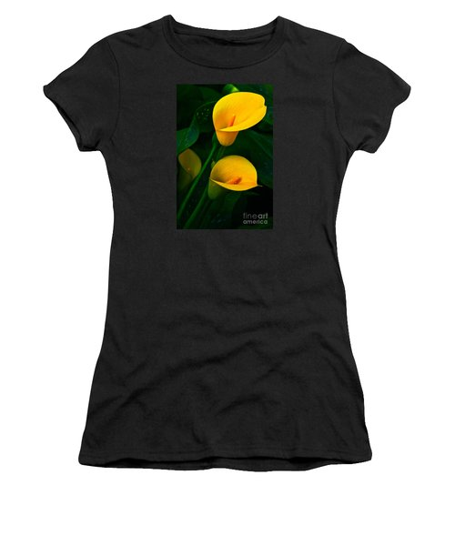 Yellow Calla Lilies Women's T-Shirt (Athletic Fit)