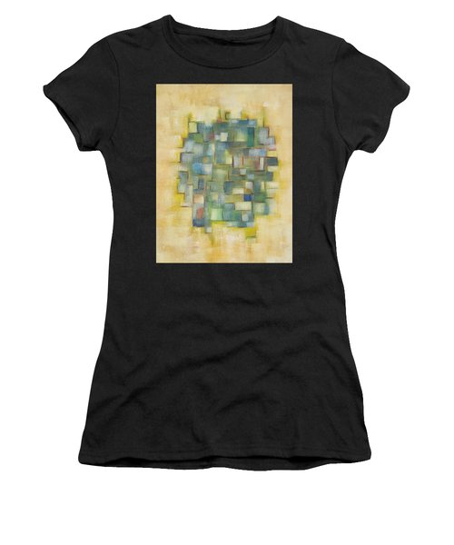 Yellow With Green  Women's T-Shirt (Athletic Fit)