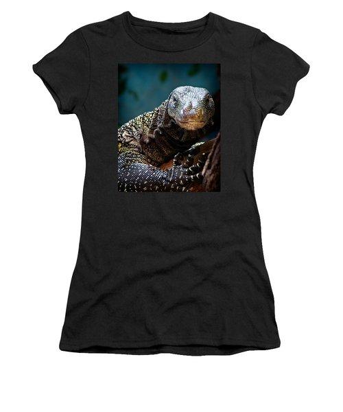 A Crocodile Monitor Portrait Women's T-Shirt (Junior Cut)