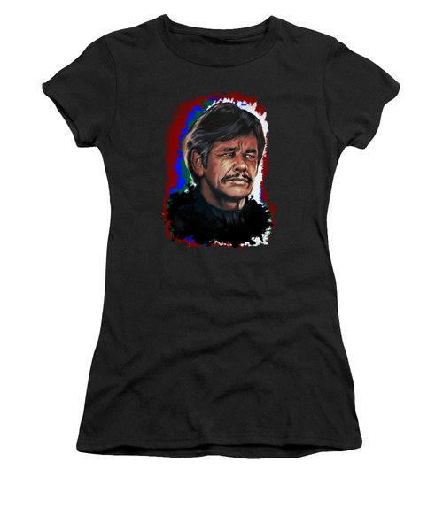 Women's T-Shirt (Junior Cut) featuring the painting  Charles by Andrzej Szczerski