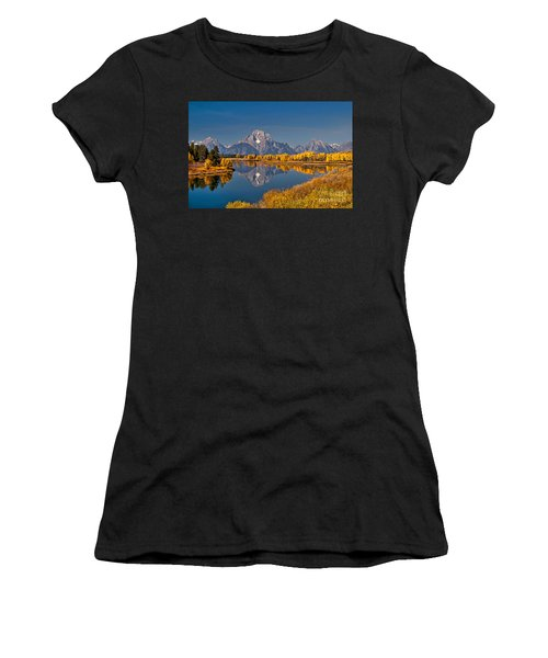 Fall Colors At Oxbow Bend In Grand Teton National Park Women's T-Shirt (Athletic Fit)