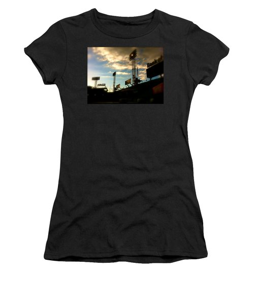 Fenway Lights Fenway Park David Pucciarelli  Women's T-Shirt