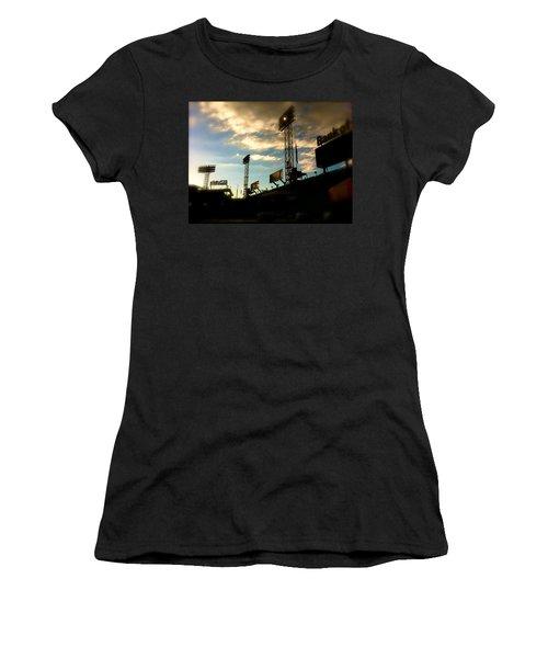 Fenway Lights Fenway Park David Pucciarelli  Women's T-Shirt