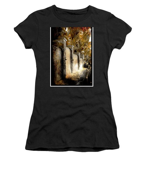 Flowing Waterfall  Women's T-Shirt (Athletic Fit)