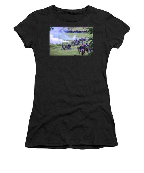 Gettysburg Union Artillery And Infantry 7439c Women's T-Shirt
