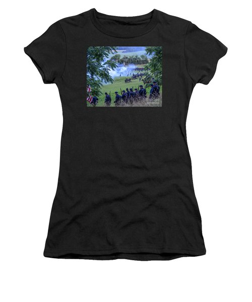 Gettysburg Union Artillery And Infantry 7465c Women's T-Shirt