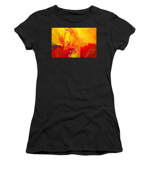 Melancholy - Abstract Warm Mixed Media Painting Women's T-Shirt