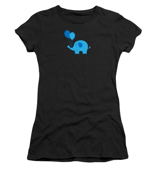 Sweet Funny Baby Elephant With Balloons Women's T-Shirt