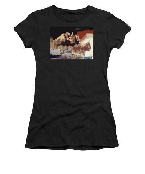 010316 Ancient Buffalo Hunt Women's T-Shirt