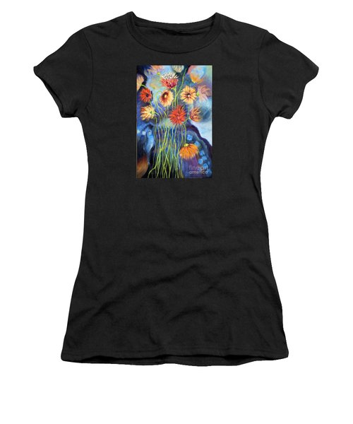 01314 African Daisies Women's T-Shirt (Athletic Fit)