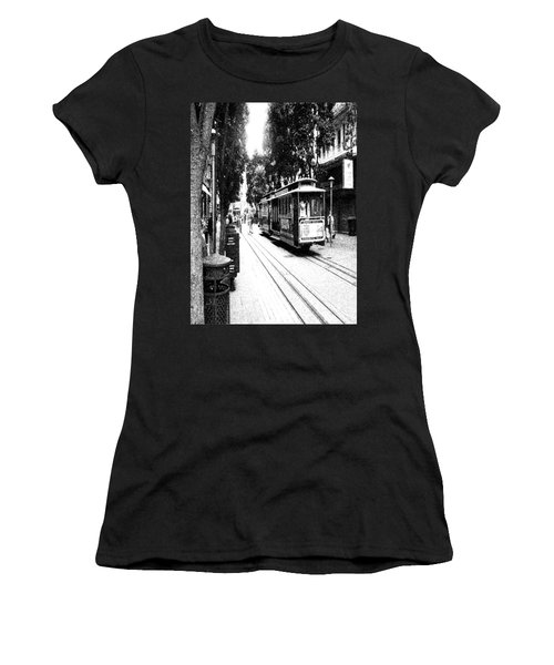 021016 San Francisco Trolly Women's T-Shirt (Athletic Fit)