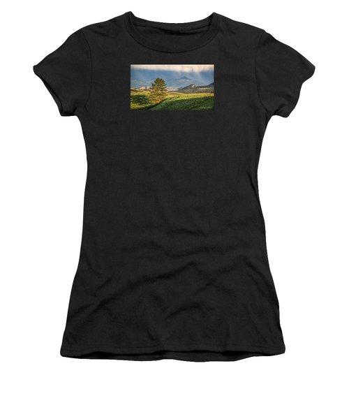 #0613 - Absaroka Range, Paradise Valley, Southwest Montana Women's T-Shirt (Athletic Fit)