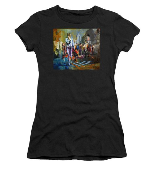 066 Ny Manhattan Street View New York Women's T-Shirt