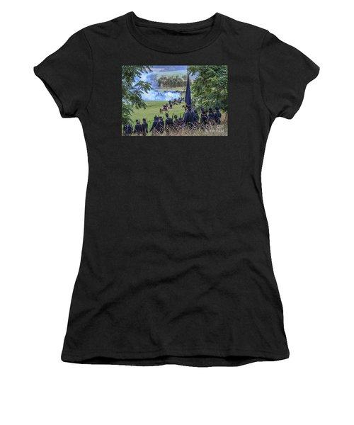 Gettysburg Union Artillery And Infantry 7457c Women's T-Shirt