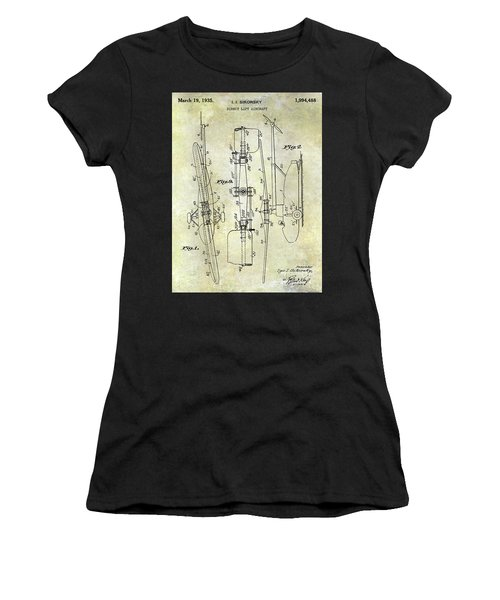 1935 Helicopter Patent  Women's T-Shirt (Athletic Fit)